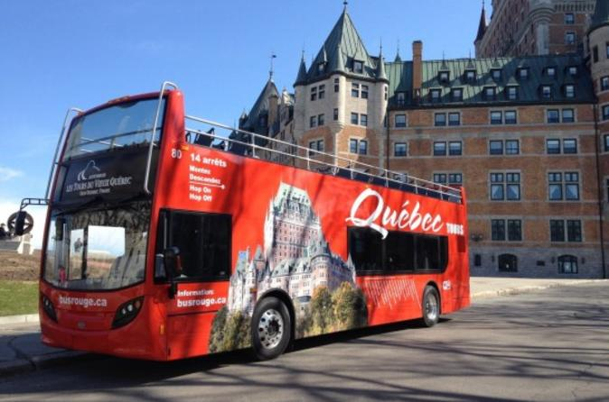 Quebec City Hop On Hop Off Bus Tour