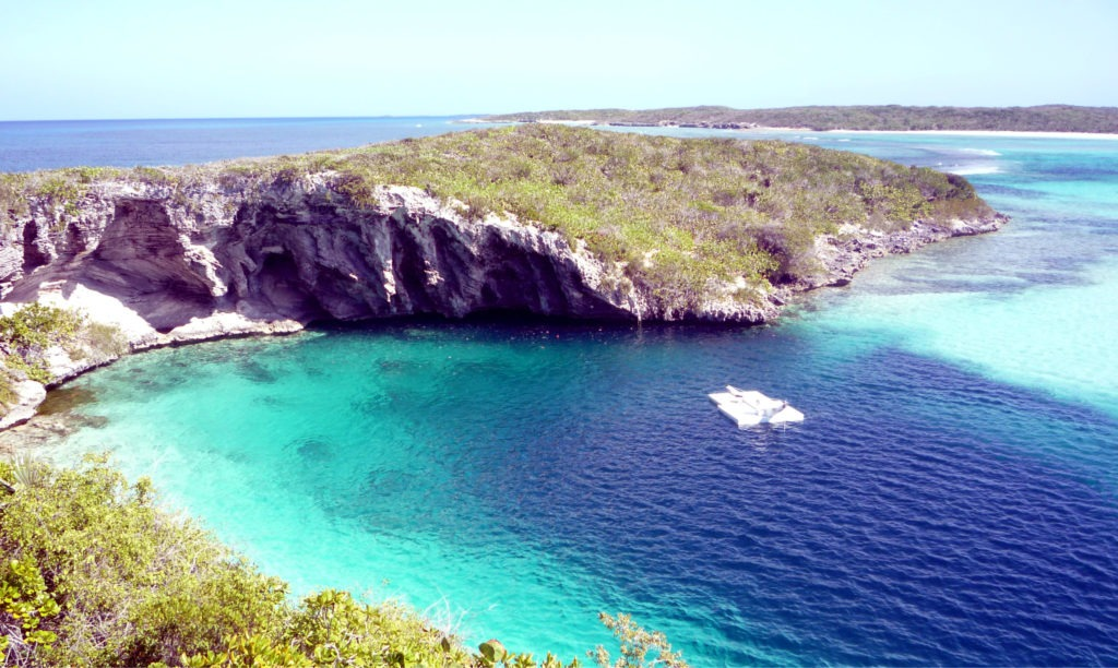Visit Dean's Blue Hole on your Bahamas cruise